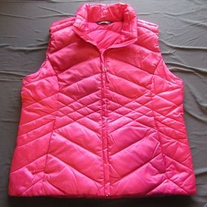 The North Face Pink Satin Down Puffer Vest Sz XL